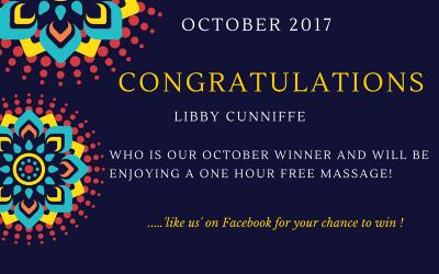 Our October massage winner!