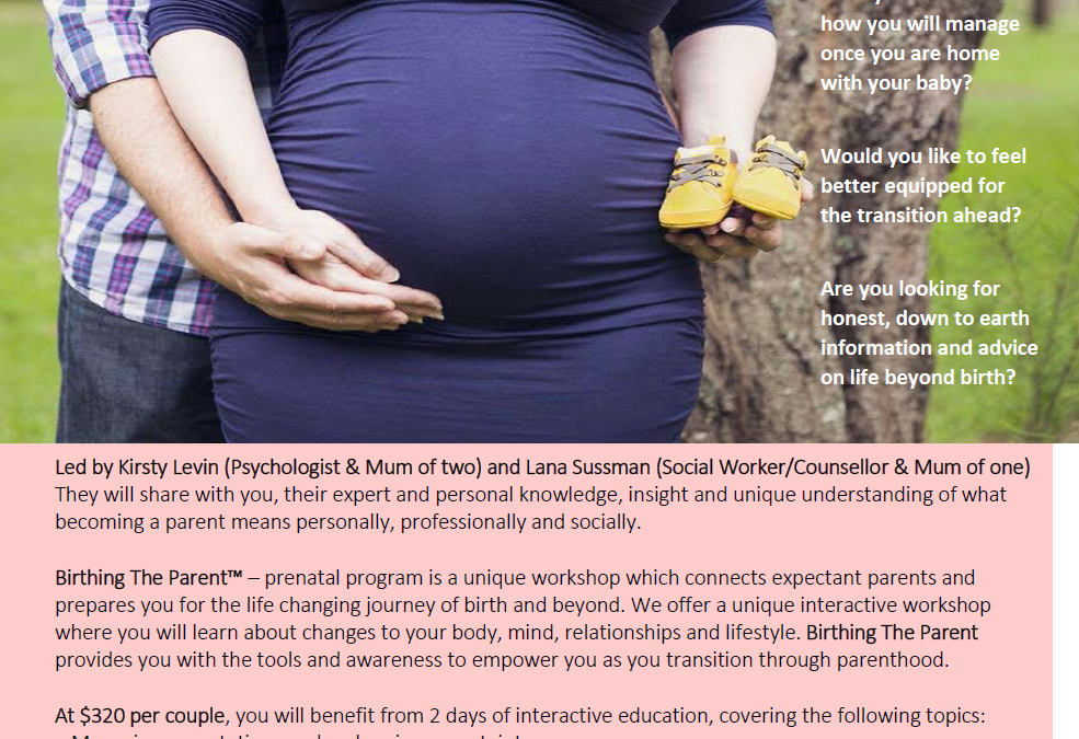 Prenatal workshop – preparing for parenthood