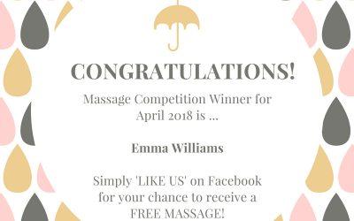 April 2018 massage winner