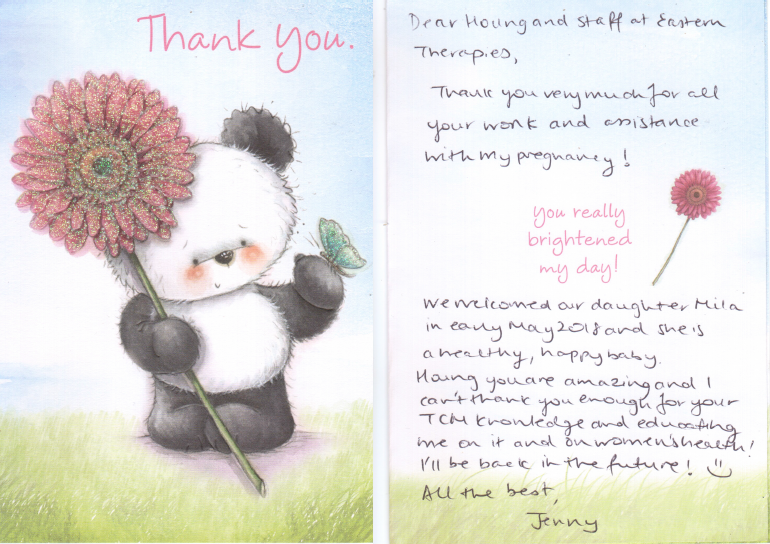 Thank you's from patients