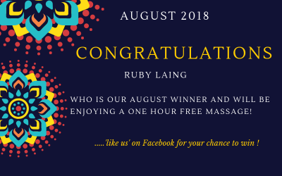 August 2018 massage winner