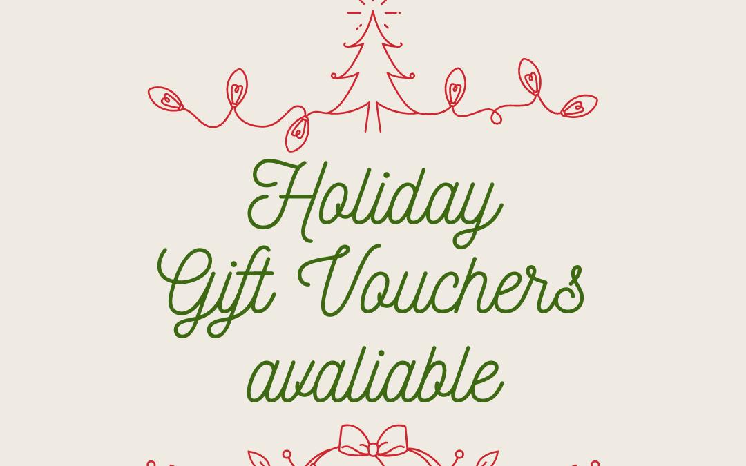 Gift Vouchers avaliable!
